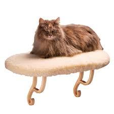 amazon com k u0026h thermo kitty sill cat window sill seat pet beds