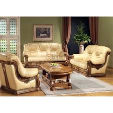 canapé cuir et bois rustique canape cuir et bois rustique ensemble salon cuvette stylisac avec