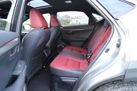 lexus nx interior back seat comparison review 2015 lexus nx 200t vs 2015 land rover