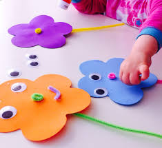 foam spring flowers easy toddler crafts craft and flower
