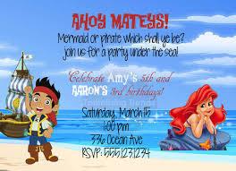 jake neverland pirate ariel mermaid birthday party
