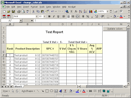 ms excel 2003 change the background color of a row based on a