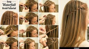 tutorial rambut waterfall 5 model kepangan kekinian yang bisa kita coba praktekkin