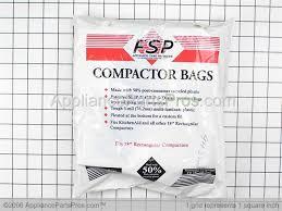 Garbage Compactor Bags Whirlpool W10165296rp Universal Trash Compactor Bags