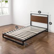 Platform Bed Wood Zinus Ironline Metal And Wood Platform Bed With Headboard Box