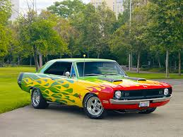 lime green dodge dart dart car stock photos kimballstock