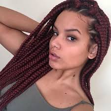 womens hairstyle the box style jumbo box braids amazing long term protective style hairstyles