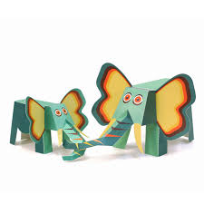 maxi elephant paper toys diy paper craft kit 3d paper