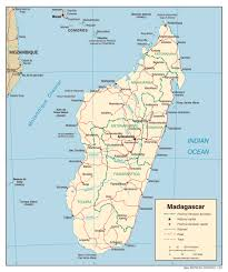 France Political Map by Political Map Of Madagascar With All Cities Madagascar Political