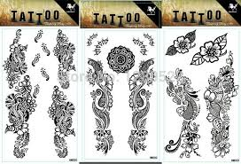 5pcs fashion 10 17 5cm diy temporary tattoo waterproof floweral