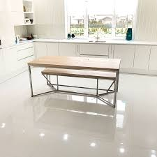 Stainless Steel Dining Room Tables by Solid Oak Stainless Steel Dining Table By Cosywood