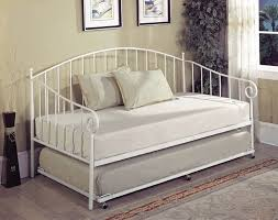Metal Daybed Frame Bt01wh Series White Metal Size Day Bed Frame With Trundle