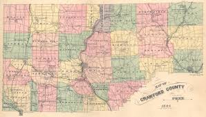 Pennsylvania Counties Map by Ancestor Tracks Crawford County Landowner Map Undated