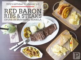 cuisine baron pepe s birthday giveaway 5 baron ribs steaks branch