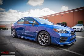bronze subaru wrx 2015 subaru wrx on swift springs gets enkei ts10s modauto