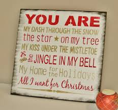 christmas sign you are all i want for christmas romantic gift