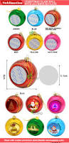 personalized sublimation blank christmas ornaments printable round