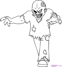 Halloween Themed Coloring Pages by Zombies Coloring Pages Experienced Zombie Image 3 Experienced