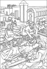 bible story coloring joseph prison free bible stories