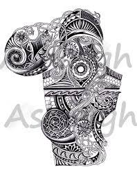 Polynesian Art Designs Art Nouveau Inspired Polynesian Sleeve By Tattoosbyashleigh On