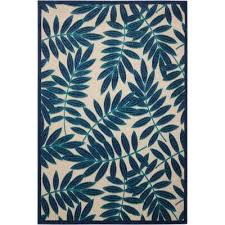 Navy And White Outdoor Rug Border 5 X 7 Blue Outdoor Rugs Rugs The Home Depot