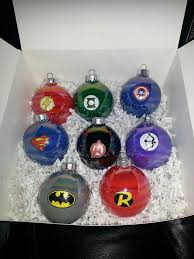 my diy ornaments flash green lantern captain america