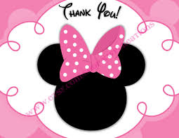 minnie mouse thank you cards minnie mouse thank you cards printable digital file