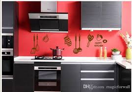 Happy Kitchen Wall Quote Art Decal Sticker Home Wallpaper Decoration