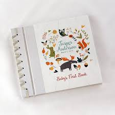 baby photo album baby s book by rag and bone bindery forest friends a