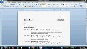 Resume Microsoft Word Template Resume Template Create Free Online Download Make Word The In