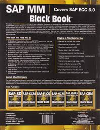 buy sap mm covers sap ecc 6 0 black book book online at low