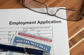 listing for social security numbers on job applications