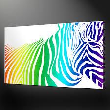 wall art uk canvas wall art uk canvas zebra rainbow canvas wall art pictures prints variety