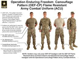 operational camouflage pattern army combat uniforms available july