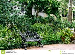 wrought iron bench seat stock photos sign up for free
