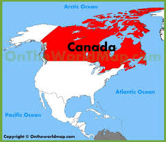 map of atlantic canada and usa canada location on the america map throughout show me of