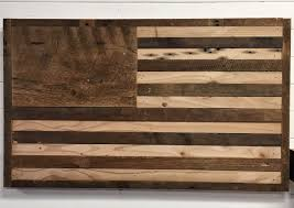 buy a hand crafted reclaimed wood american flag wall decor made