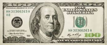 macro up of a 100 dollar bill pondly