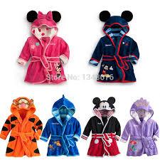 robe de chambre enfants bébé peignoir enfants pyjamas bande dessinée garçons molleton à