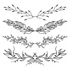 leaves ornaments collection vector free