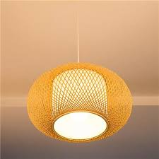 Led Ceiling Light Bamboo Woven Cover