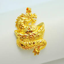man necklace gold jewelry images Over a hundred domineering dragon pendant package tact ingot jpg