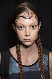 fashion icon plaited hair dkny spring 2015 wet hair hairstyles pigtail braids and wet hair