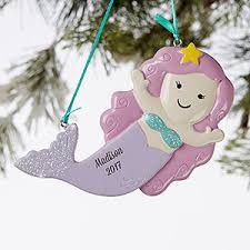 personalized mermaid ornament