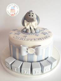 baptism cake toppers baby boy blue christening cake with adorable edible elephant