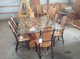 Dining Room Table Glass Top Glass Top Table Dining Room Tables Glass Top Stump Table