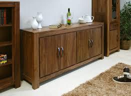 Walnut Sideboard Baumhaus Mayan Walnut Large Low Sideboard Amazon Co Uk Kitchen