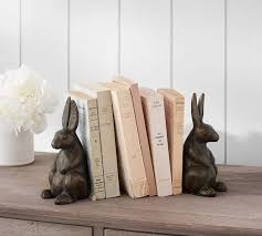 rabbit bookends the emily meritt bunny bookends pottery barn