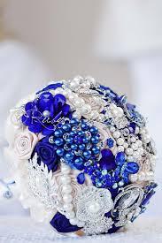 Royal Blue Wedding Royal Blue Brooch Bouquet Wedding Shades Of Navy Blue Cobalt Sapphire