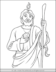 Saint Jude Coloring Page The Catholic Kid Saints Colouring Pages